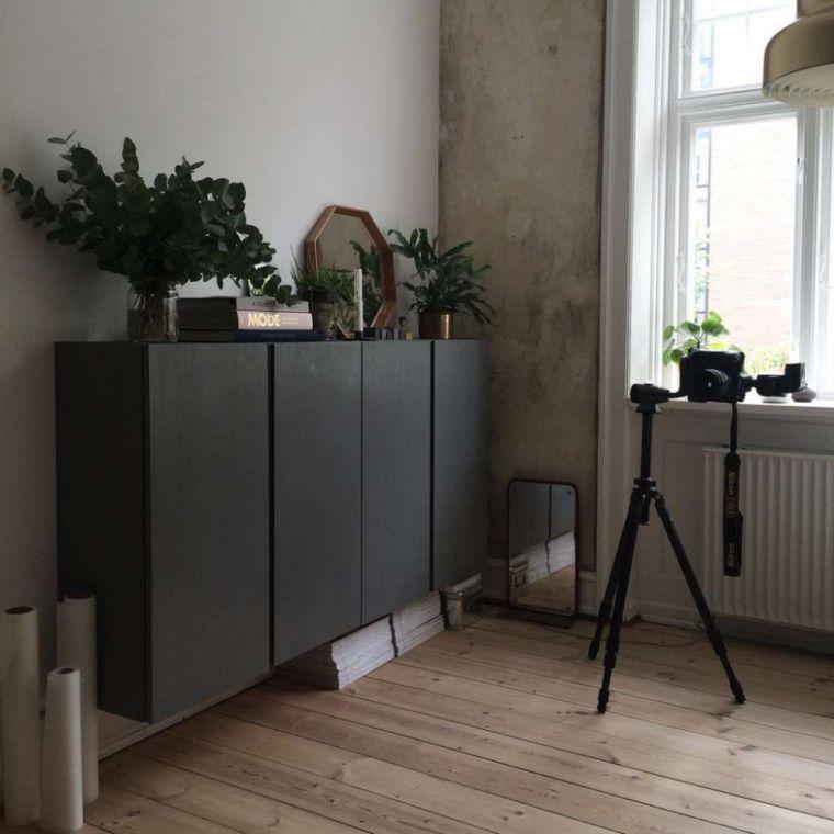 muebles de ikea pintado negro