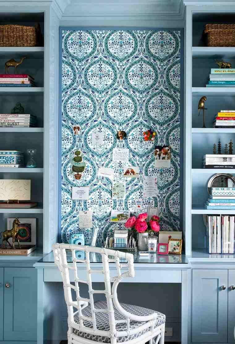 oficina en casa-estilo-color-azul
