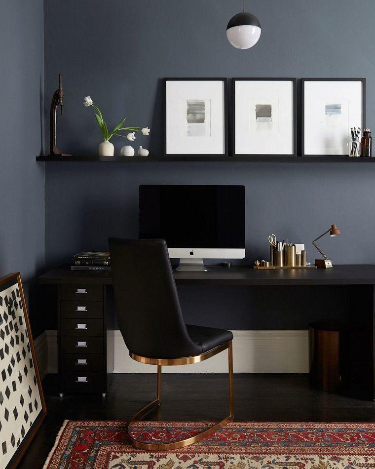 oficina en casa-ideas-colores-oscuros