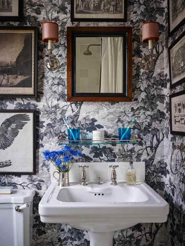 revestimiento para paredes-flores-papel