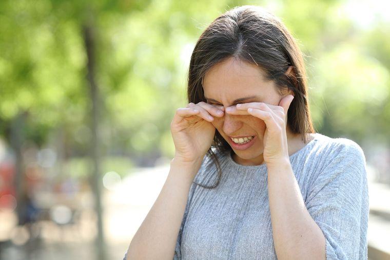 alergia al polen irritacion