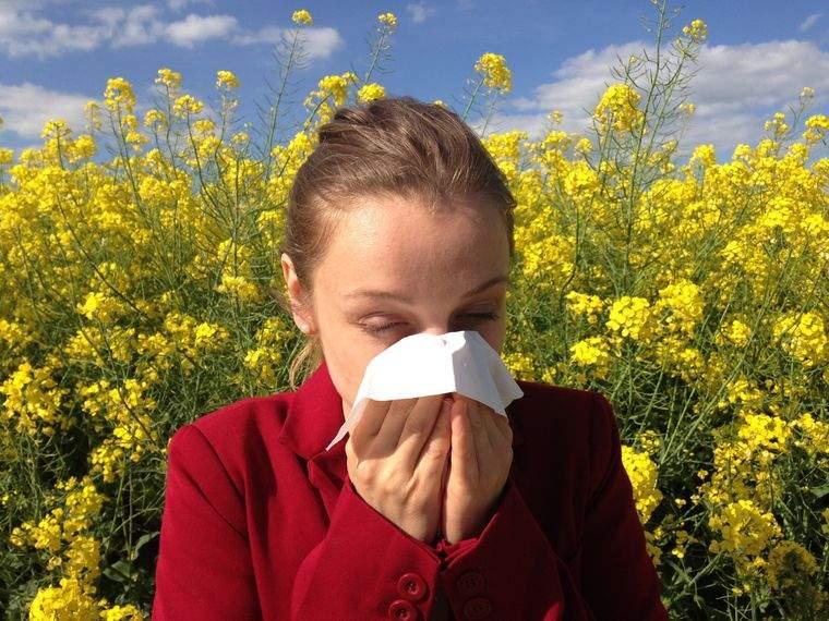alergia al polen molestias