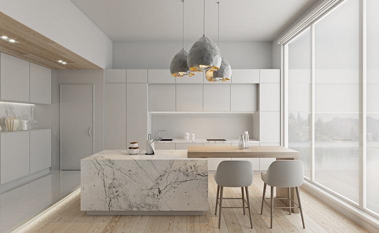 cocina-isla-marmol-ideas