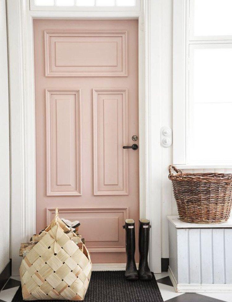 color-rosa-claro-puerta-estilo
