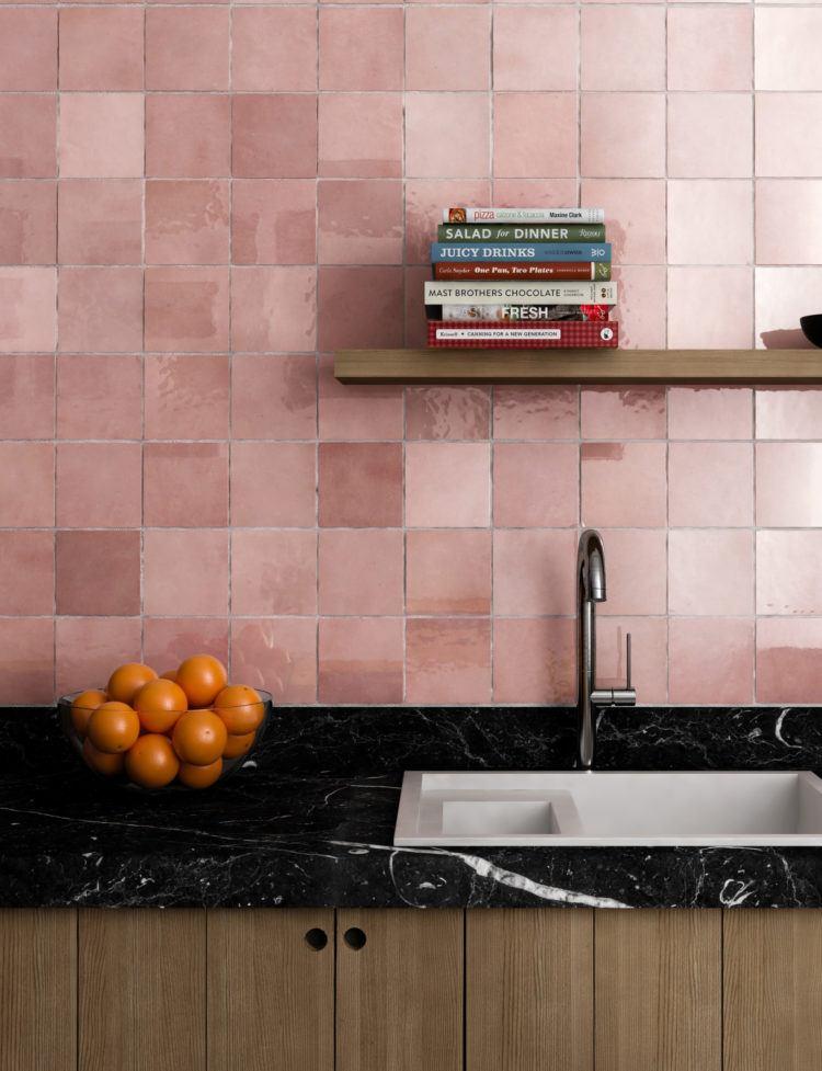 color rosa-pared-cocina-ideas-estilo