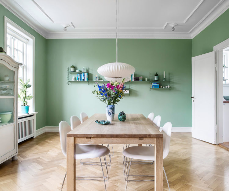 color-verde-diseno-interior-comedor-paredes