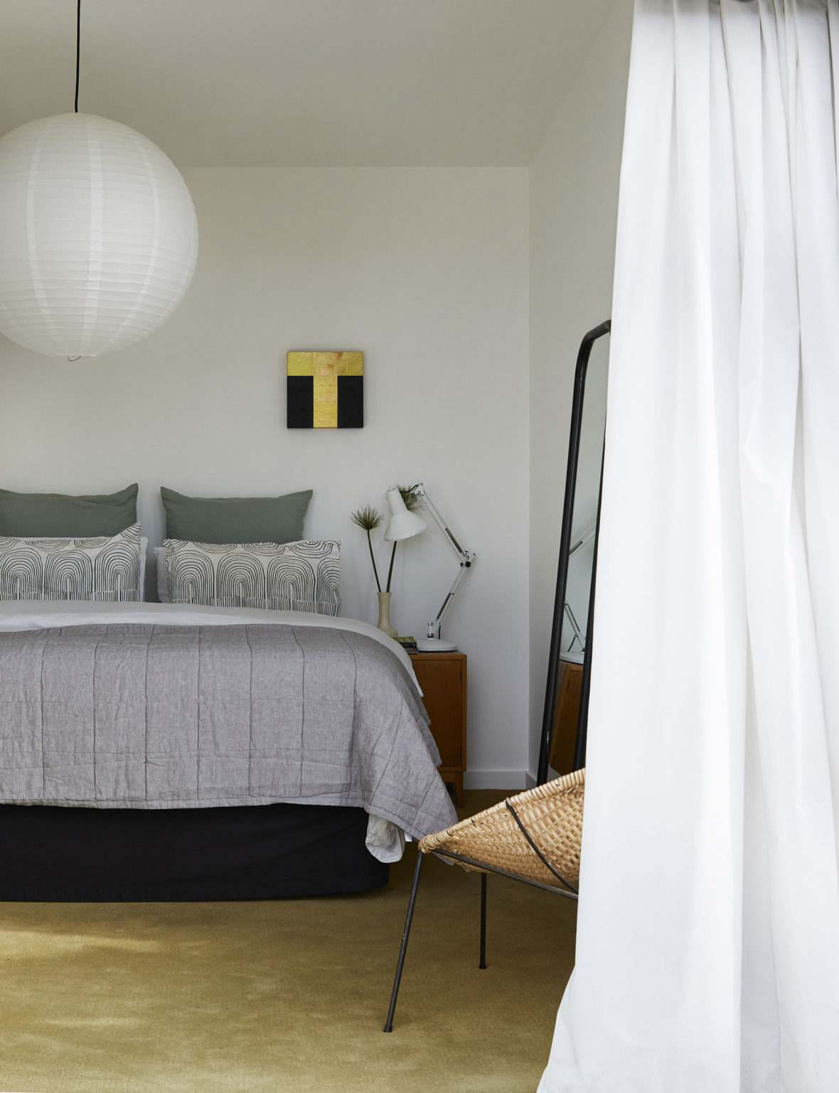 color verde diseno-interior-dormitorio