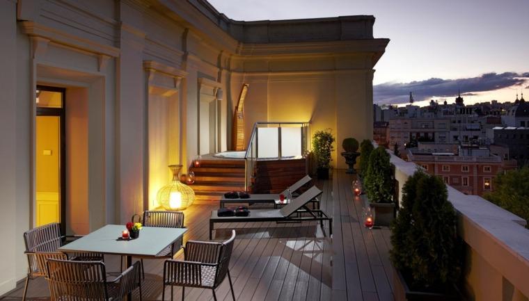 decoración de terrazas acogedora