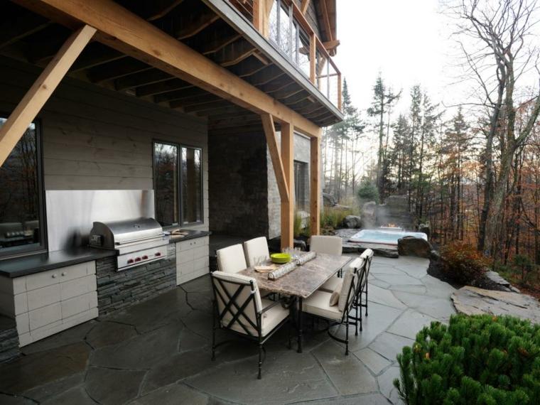 decoración de terrazas cocina