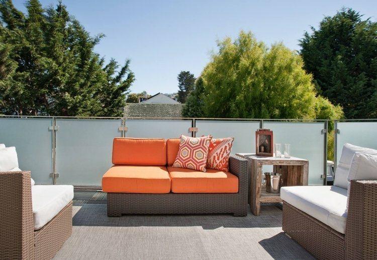 decoración de terrazas color