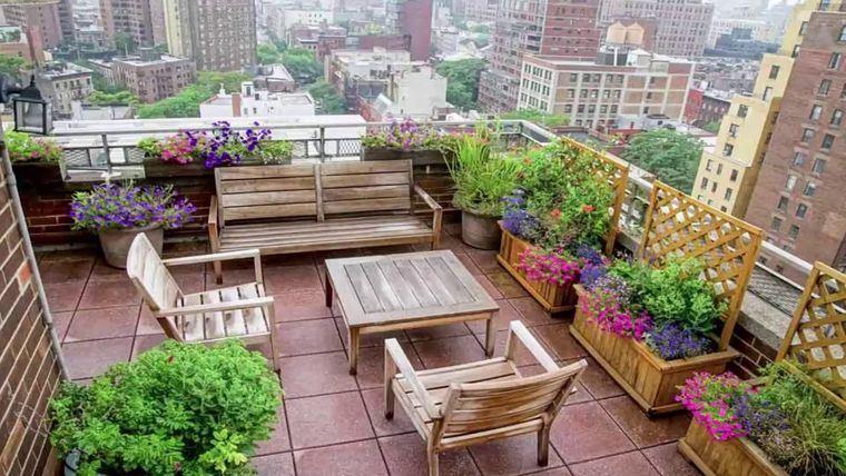 decoración de terrazas con linda vista