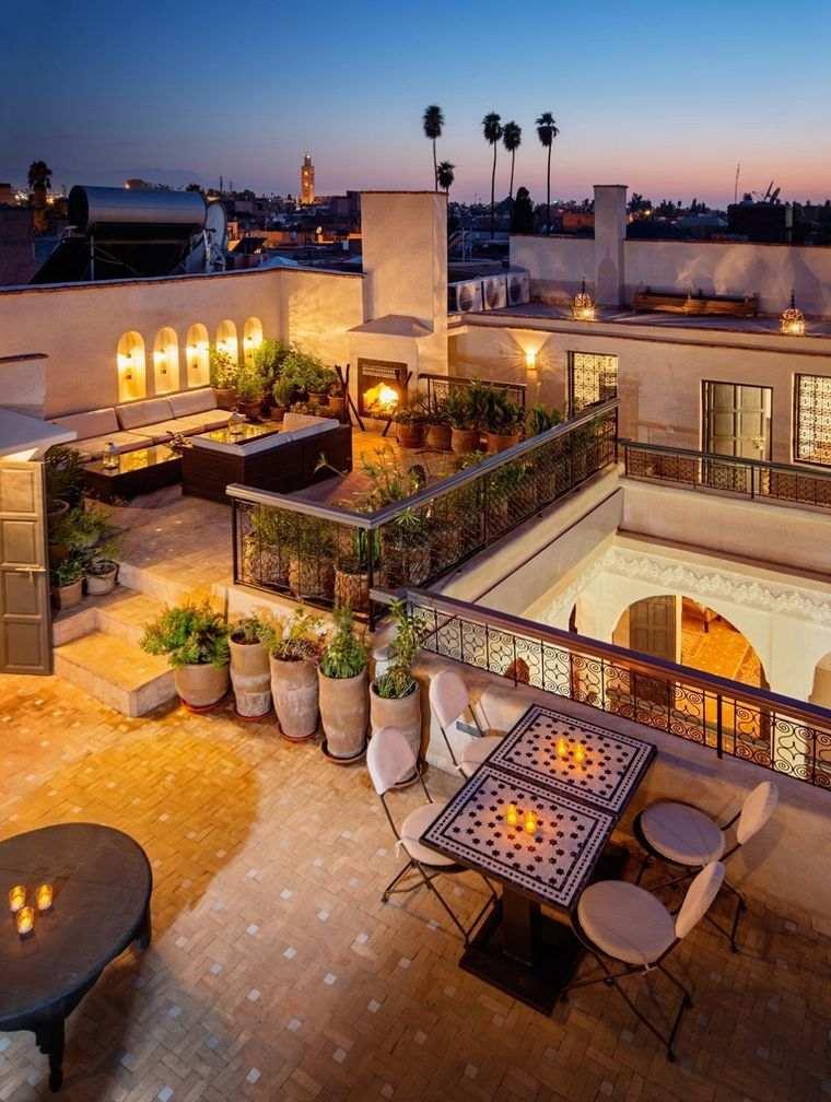 decoración de terrazas hermosa