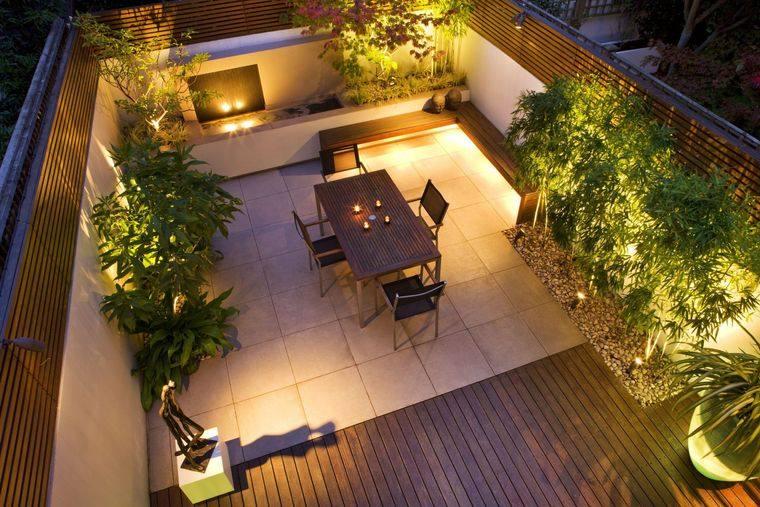 decoración de terrazas iluminacion