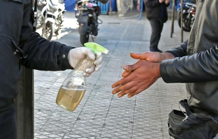 limpiar manos