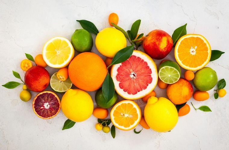 grasa corporal frutas citricas