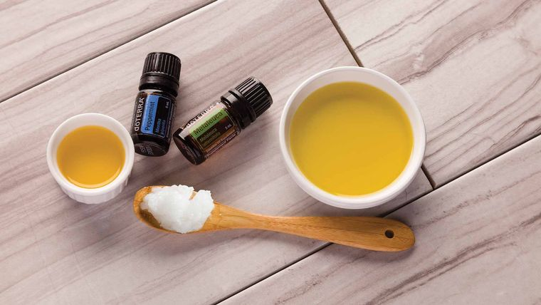 hidratar el cabello aceite caliente