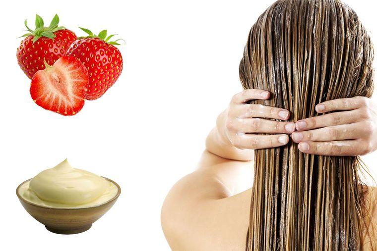 hidratar el cabello fresas