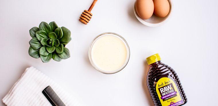 hidratar el cabello huevo yogurt miel