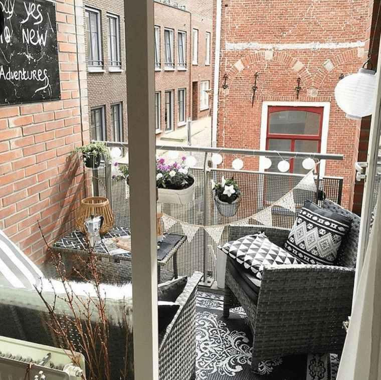 ideas de decoración balcon apartamento