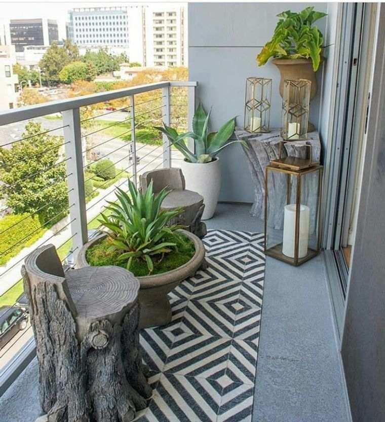 ideas de decoración balcon minimalista