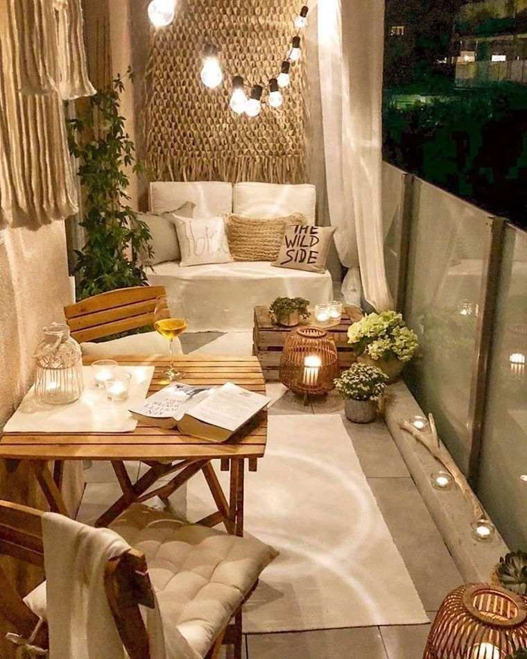 ideas de decoración balcon romantico