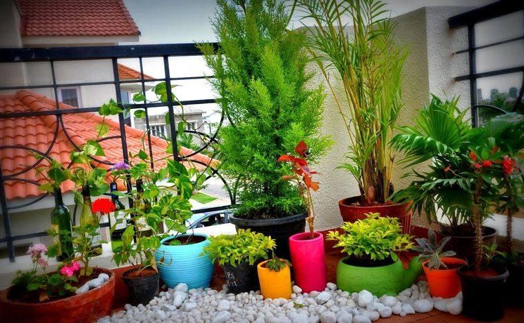 ideas de decoración jardin balcon