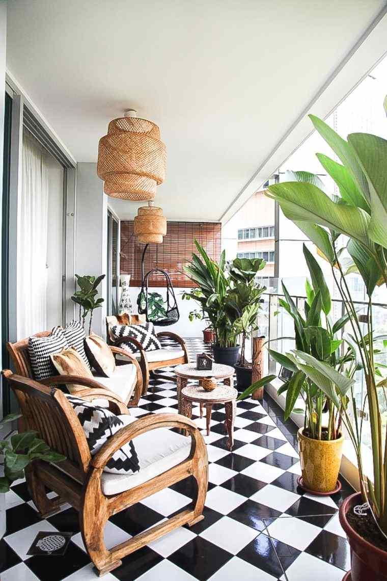 ideas de decoración pisos balcones