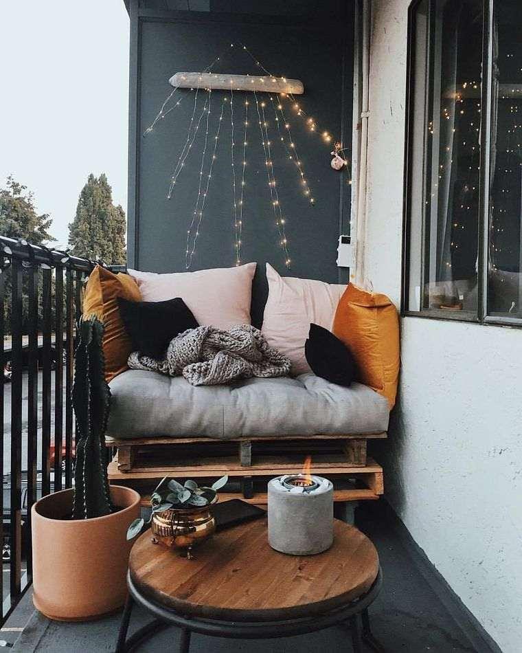 ideas de decoración sencillas balcon