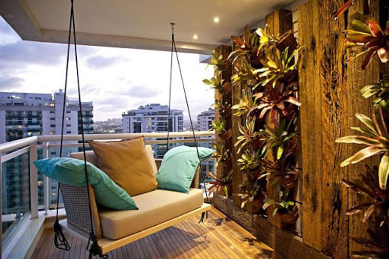 ideas de decoración vegetacion pared