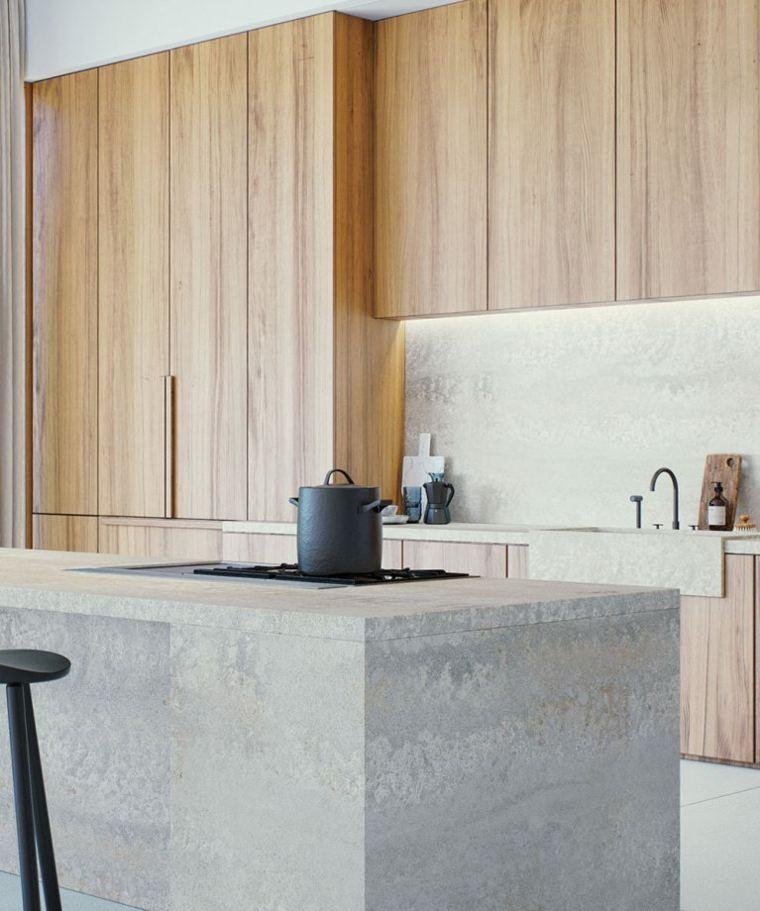 madera y concreto