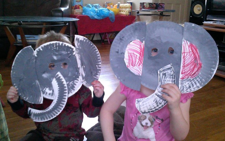 manualidades para niños elefante