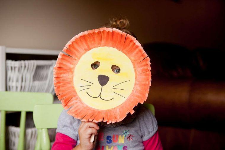 manualidades para niños leon