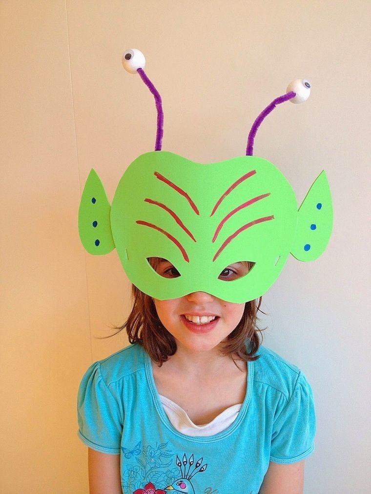 manualidades para niños mascara antenas