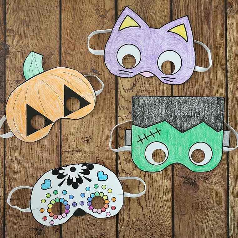 manualidades para niños mascaras varias