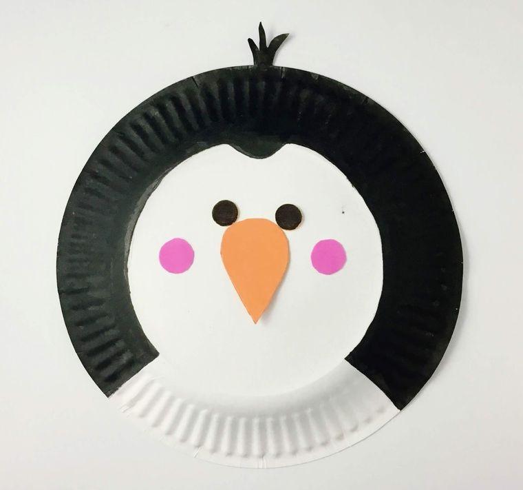 manualidades para niños pinguinito