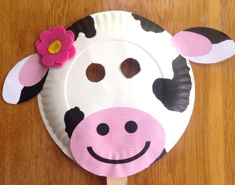 manualidades para niños vaca