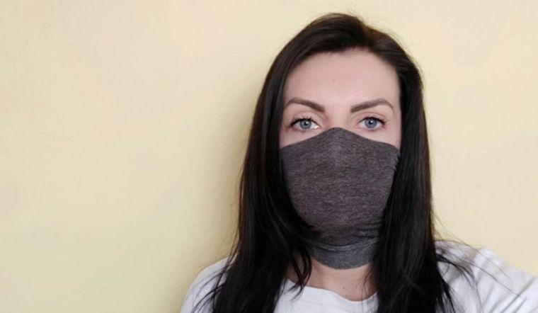 máscara protectora con media elastica