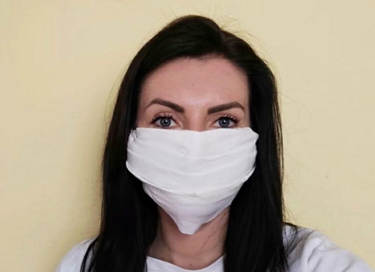 máscara protectora papel cocina
