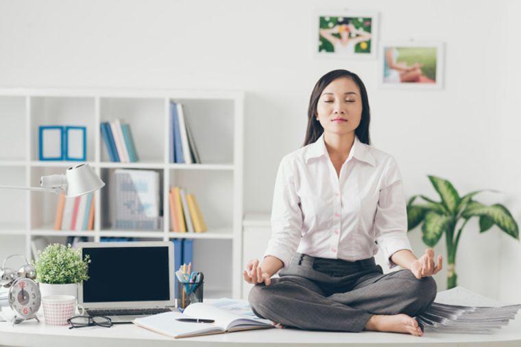 meditación oficina