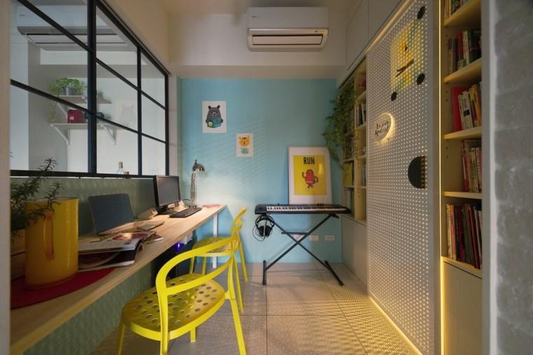 oficina-casa-sillas-amarillas
