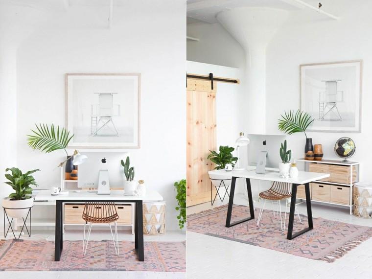 oficina en casa ideas-estilo-botanico