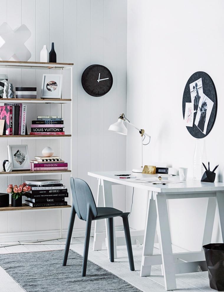 oficina en casa ideas-mesa-blanca