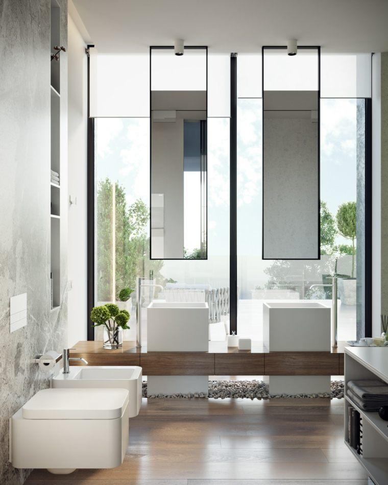 pared-cristal-espejos-colgantes