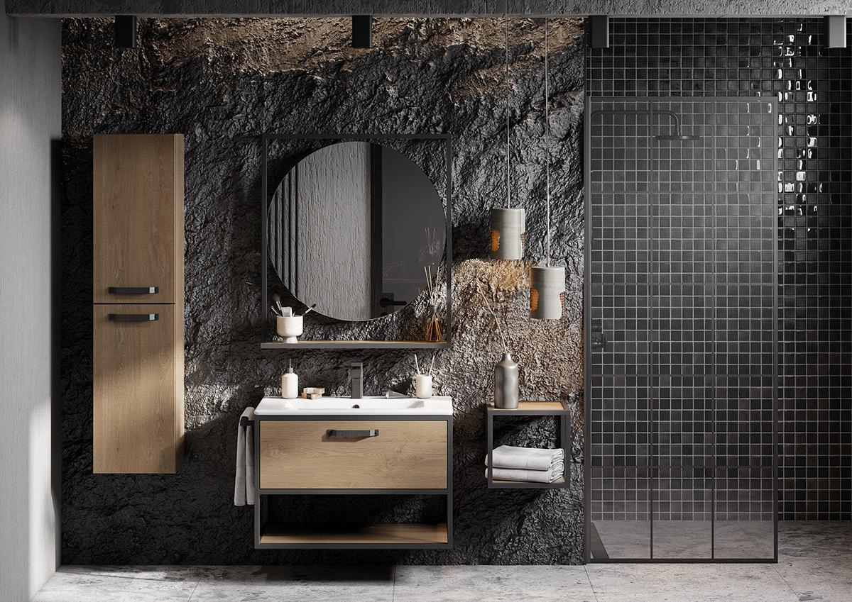 paredes de baño-piedra-mosaico