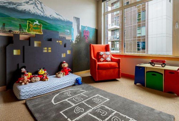 sala de juegos alfombra