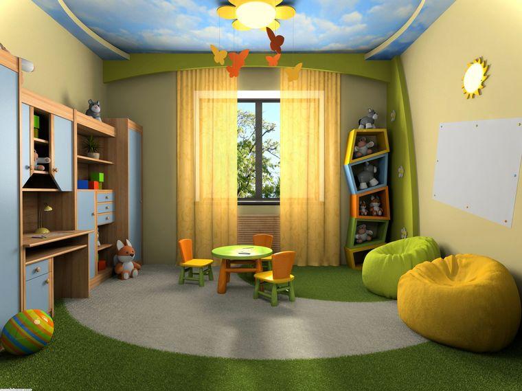 sala de juegos verde