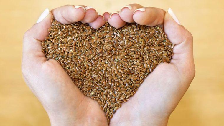 semillas de linaza corazon