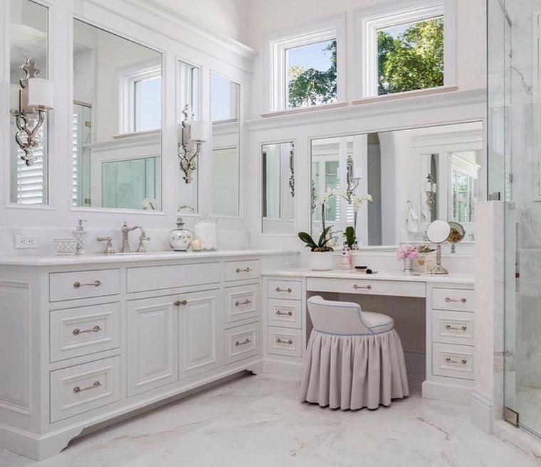 tocador con cajones cuarto baño