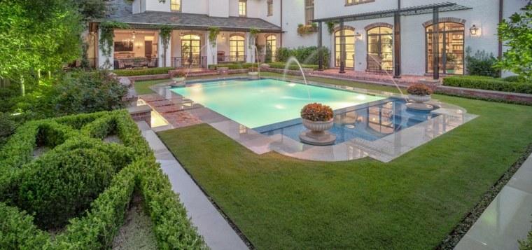 Jardines con piscina extwruires-modernos-piscina-estilo