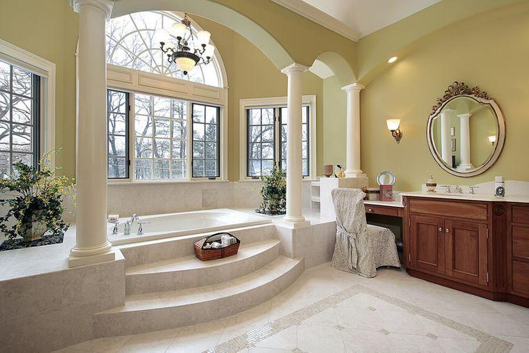 baños de lujo con nivel